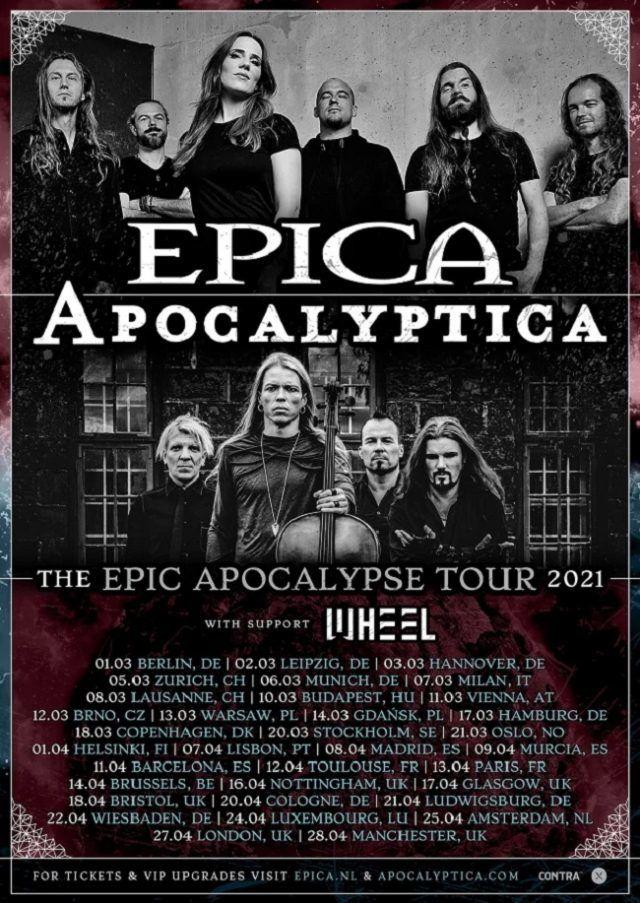 Apocalyptica et Epica reportent leur tournée européenne à 2021