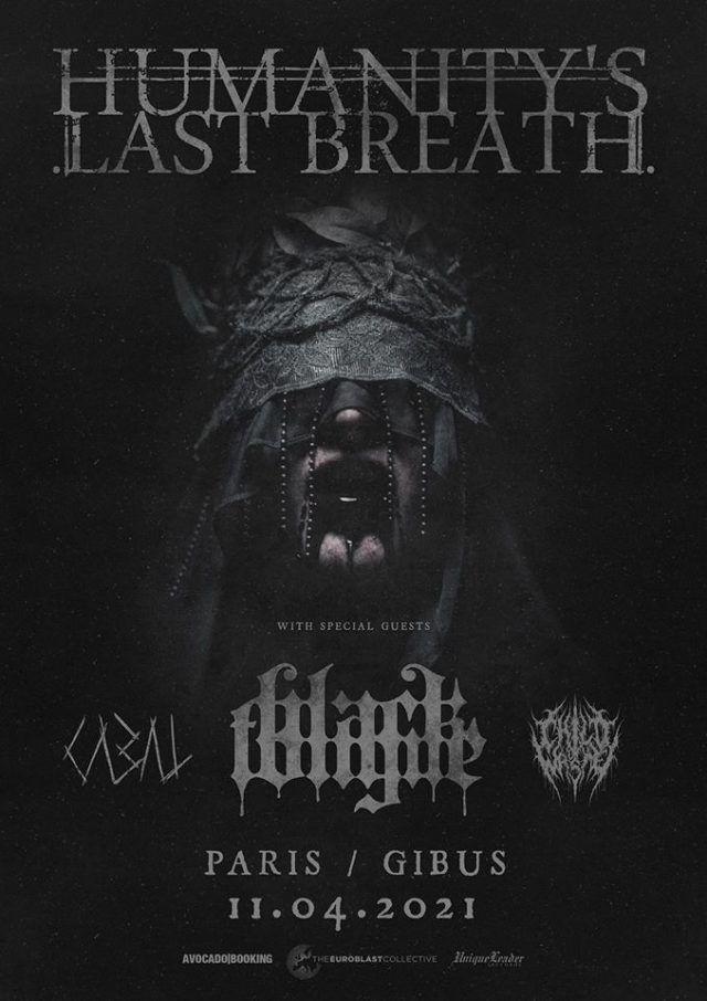 Humanity's Last Breath annonce un nouveau concert en France avec Black Tongue & Cabal