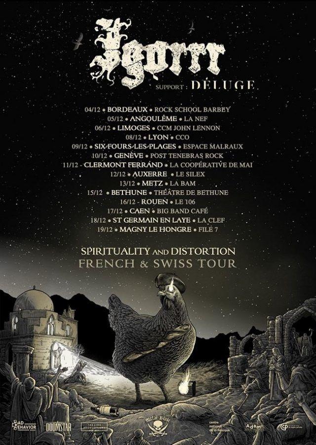 Igorrr annonce des concerts supplémentaires en France et en Suisse pour la fin 2020