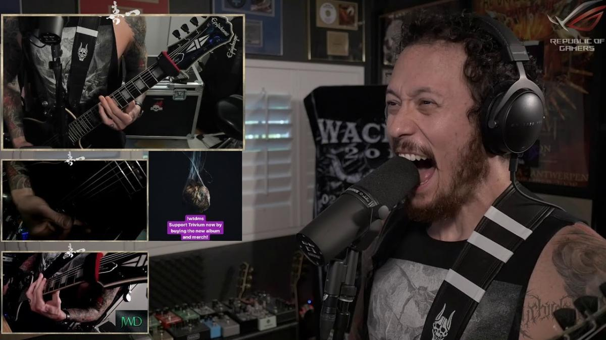 Regardez Matt Heafy de Trivium jouer What The Dead Men Say en entier !