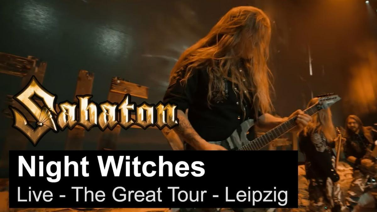 Sabaton publie une vidéo live de Night Witches à Leipzig