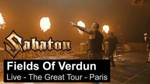 Sabaton publie une vidéo live de Fields Of Verdun à Paris