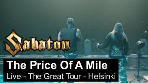 Sabaton publie une vidéo live de The Price Of A Mile à Helsinki