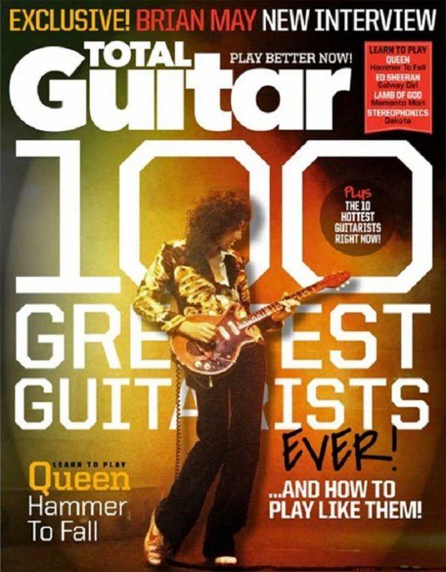 Brian May de Queen nommé meilleur guitariste de tous les temps par le magazine Total Guitar