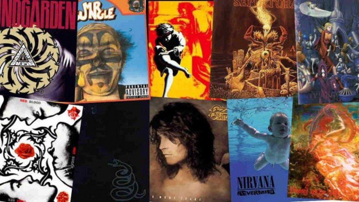 Les 10 meilleurs albums Metal & Rock de 1991