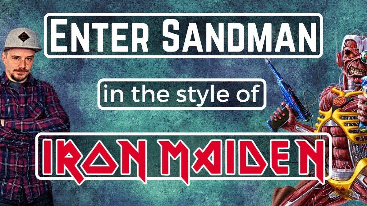 Cette reprise de Enter Sandman de Metallica dans le style de Iron Maiden déchire !