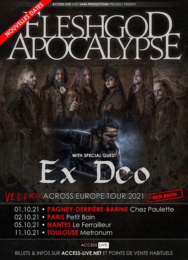 Fleshgod Apocalypse reporte ses concerts en France à 2021