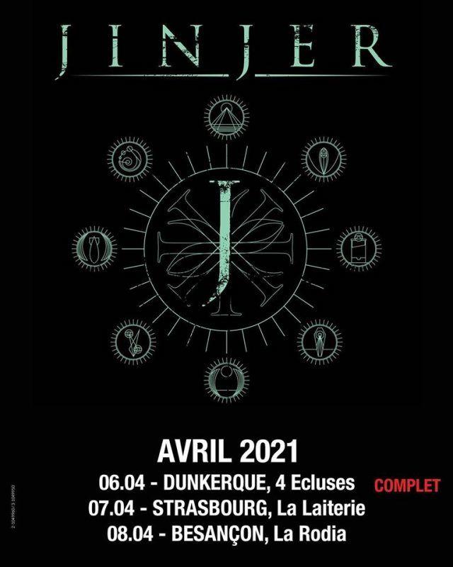 Jinjer reporte ses concerts en France à 2021