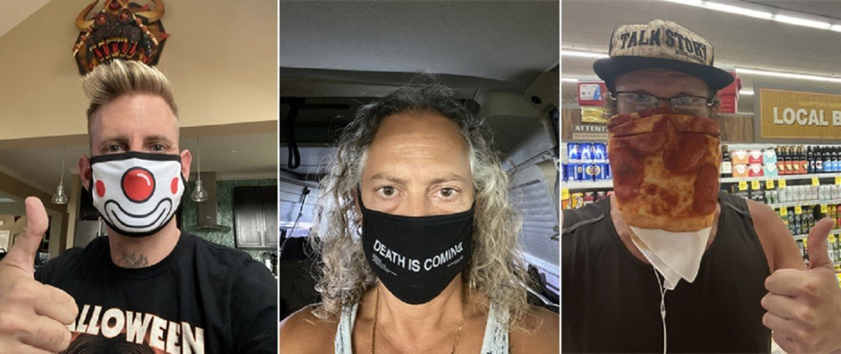 Metallica, Killswitch Engage, Mastodon, etc., vous encouragent à porter un masque