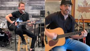 Regardez Nickelback jouer une version acoustique de Rockstar en live
