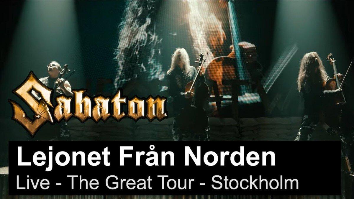 Sabaton sort une vidéo live de Lejonet Från Norden à Stockholm