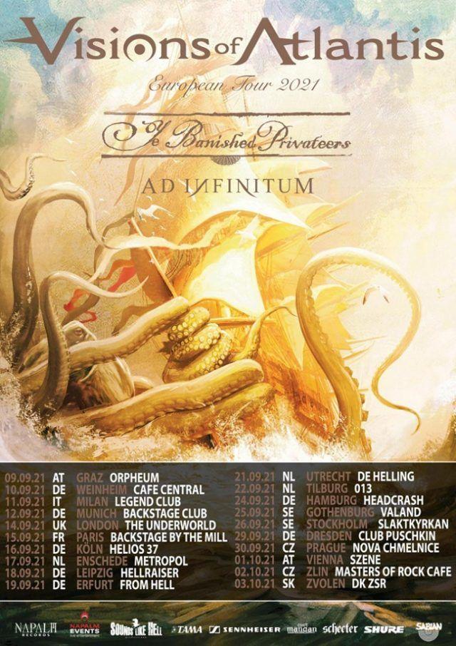 Visions Of Atlantis reporte sa tournée européenne à 2021