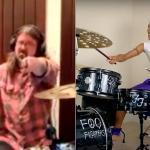 Nandi Bushell, 10 ans, défie Dave Grohl (Foo Fighters) dans un duel de batterie, il accepte