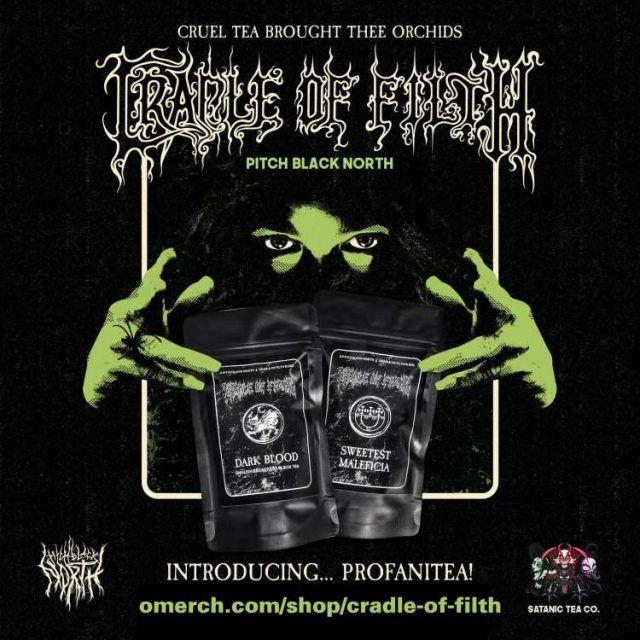 Cradle Of Filth a créé sa propre marque de thé (100% Black Metal)