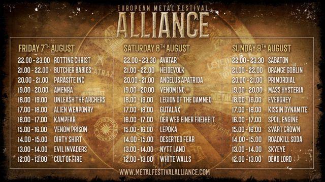 L'European Metal Festival Alliance annonce son planning