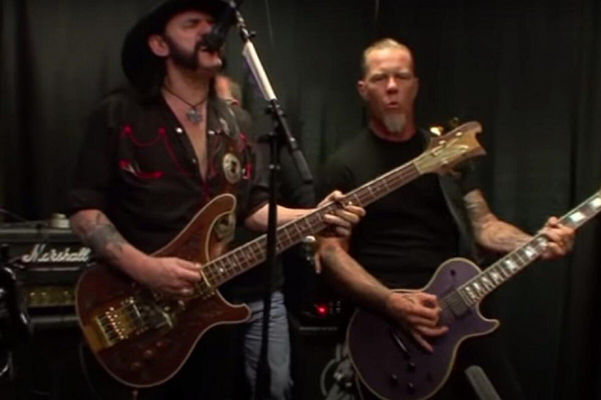 Regardez Metallica jouer deux chansons en coulisses avec Lemmy Kilmister