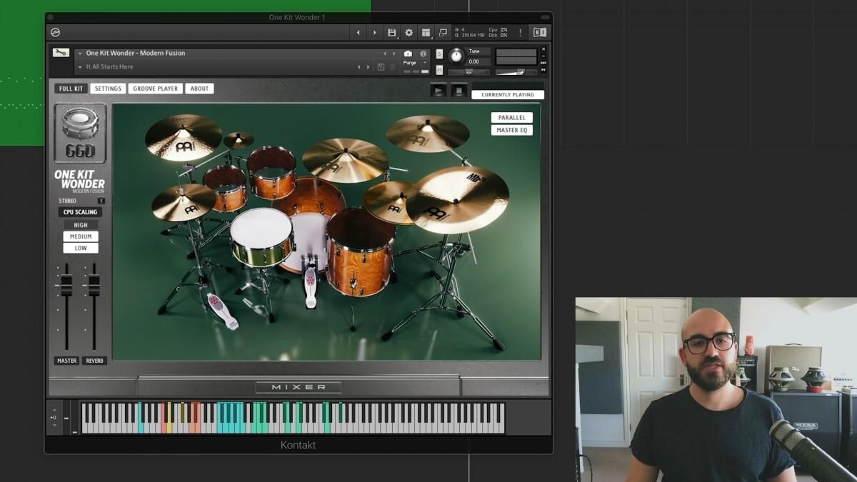 """Adam """"Nolly"""" Getgood fait la démonstration de sa nouvelle batterie virtuelle (One Kit Wonder : Modern Fusion)"""
