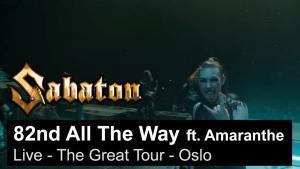 Sabaton sort une vidéo live de 82nd All The Way avec Amaranthe à Oslo
