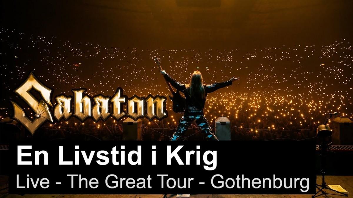 Sabaton publie une vidéo live de En Livstid I Krig à Göteborg