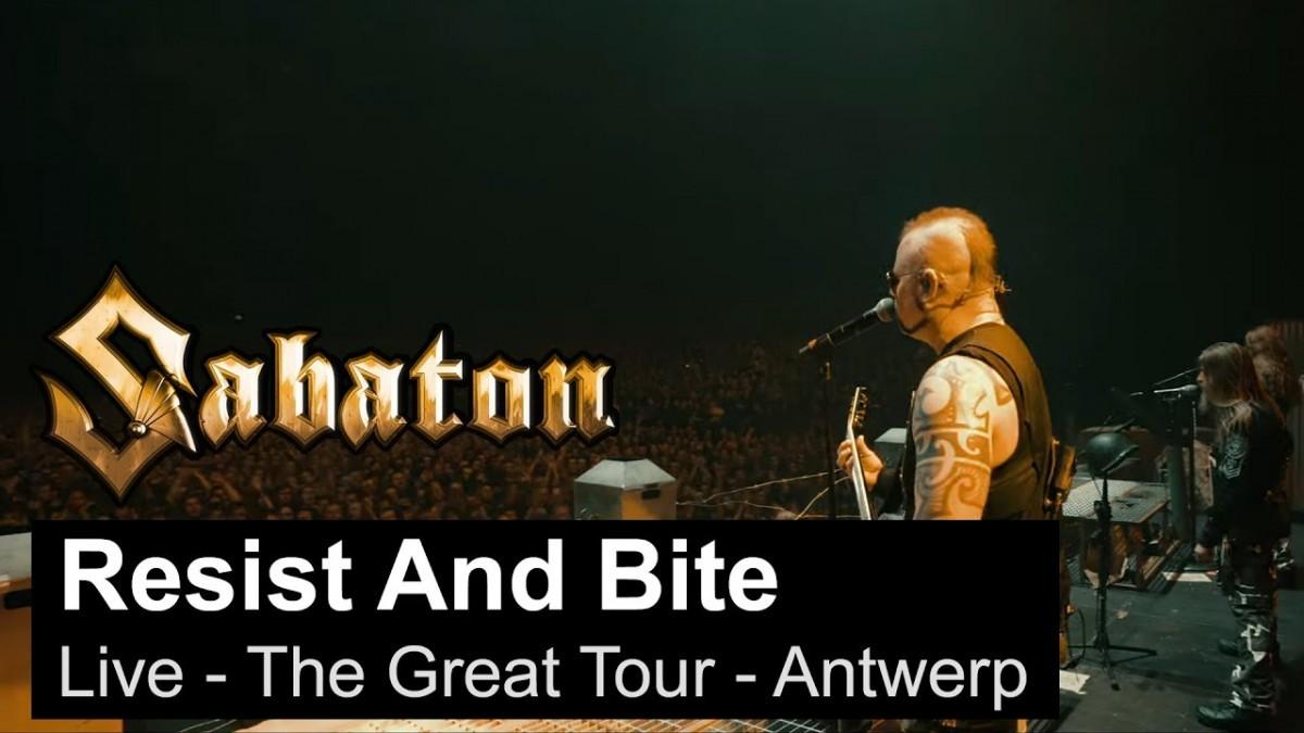 Sabaton sort une vidéo live de Resist and Bite à Anvers