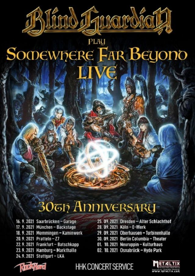 Blind Guardian annonce une tournée pour le 30ème anniversaire de l'album Somewhere Far Beyond