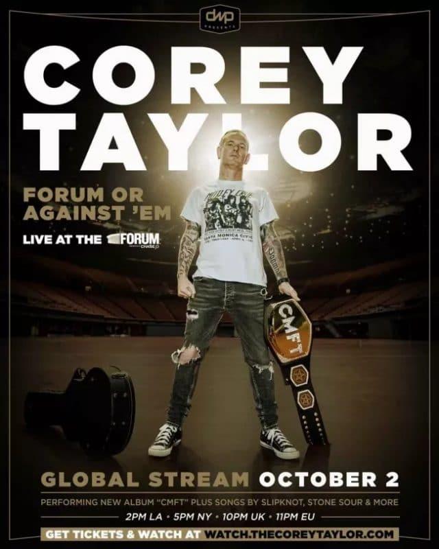 Corey Taylor (Slipknot/Stone Sour) annonce un concert spécial en direct du LA Forum