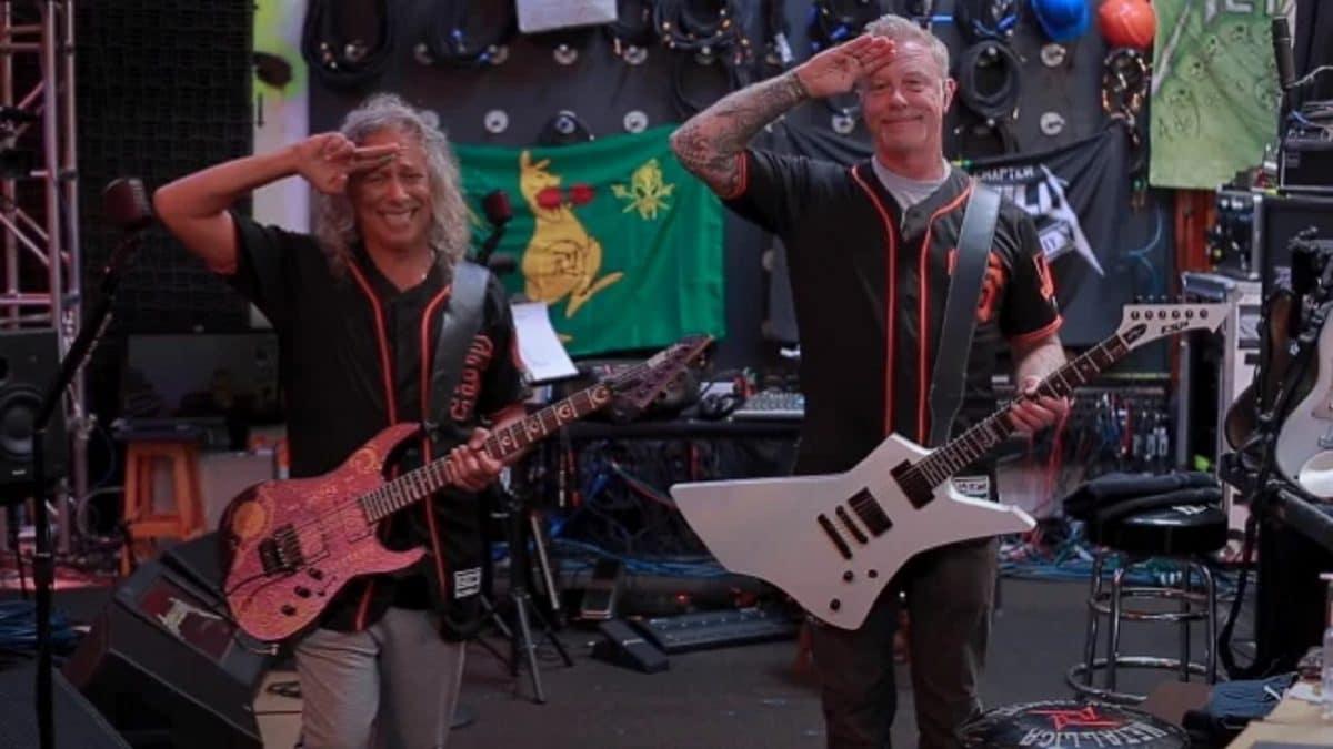 Regardez Metallica interpréter l'hymne national américain avant un match de baseball