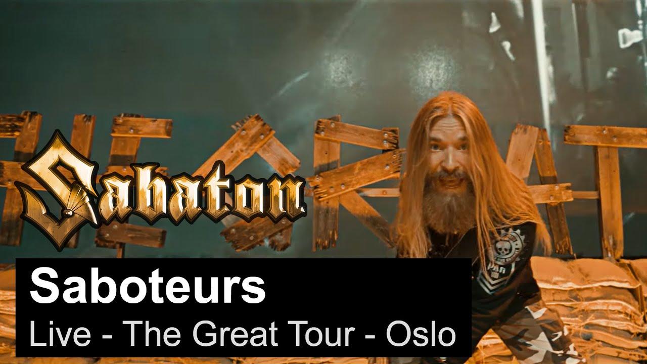 Sabaton publie une vidéo live de Saboteurs à Oslo