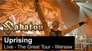 Sabaton publie une vidéo live de Uprising à Varsovie