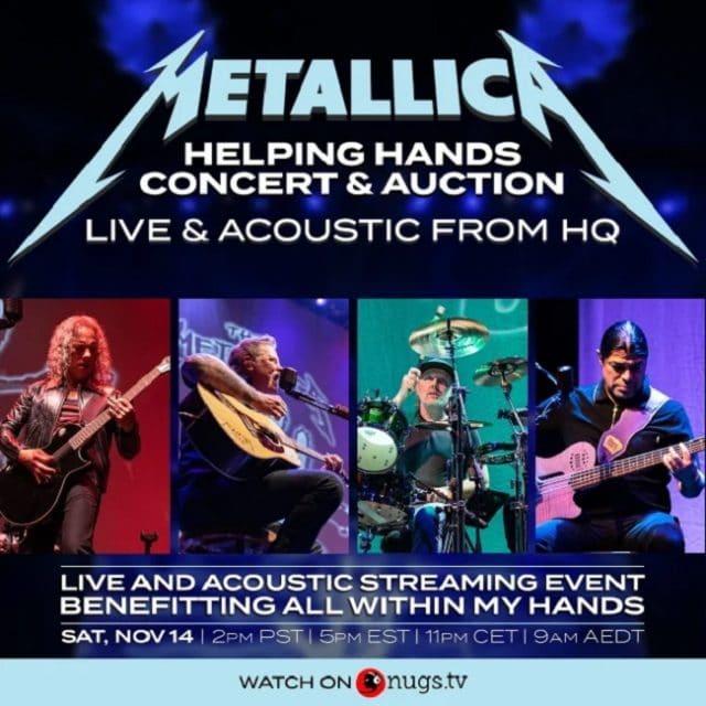 Metallica annonce un concert caritatif en streaming Live & Acoustic From HQ
