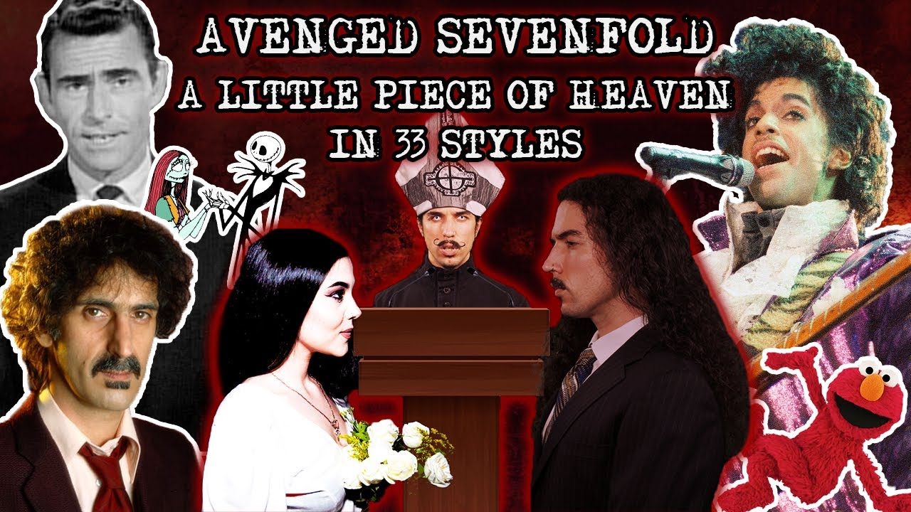 Ten Second Songs reprend A Little Piece Of Heaven de Avenged Sevenfold dans 33 styles différents