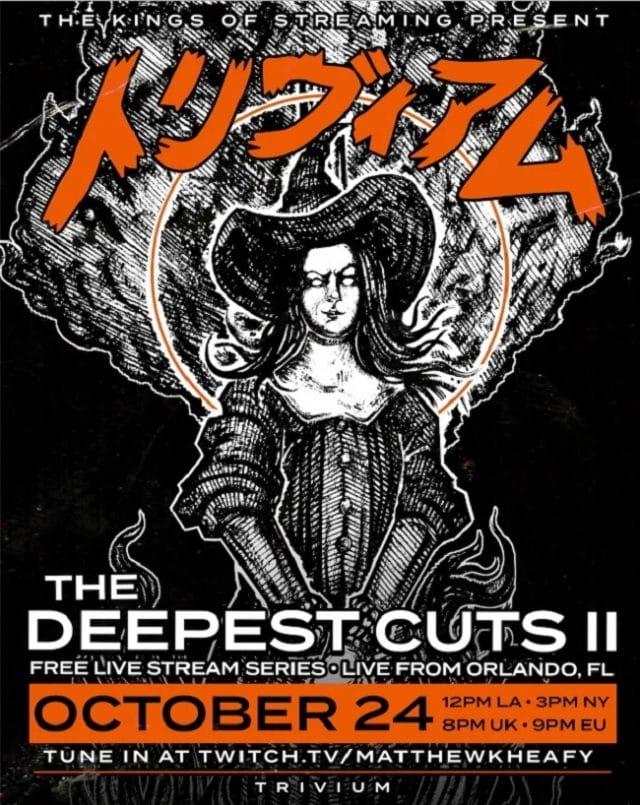 Trivium annonce un nouveau concert gratuit en streaming, The Deepest Cuts II