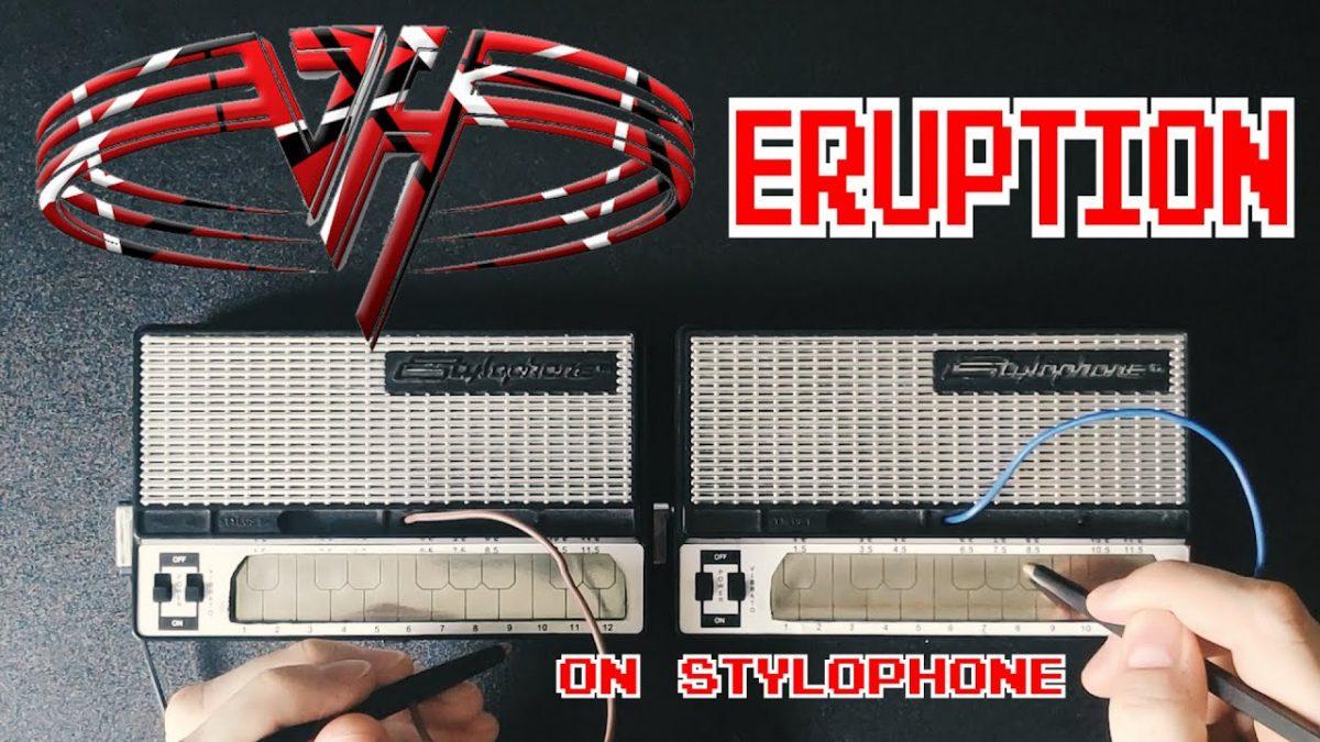 Eruption de Van Halen interprété sur un stylophone
