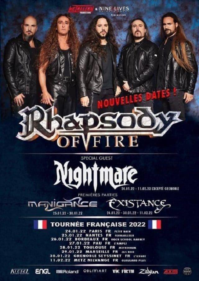 Rhapsody Of Fire reporte sa tournée française à 2022