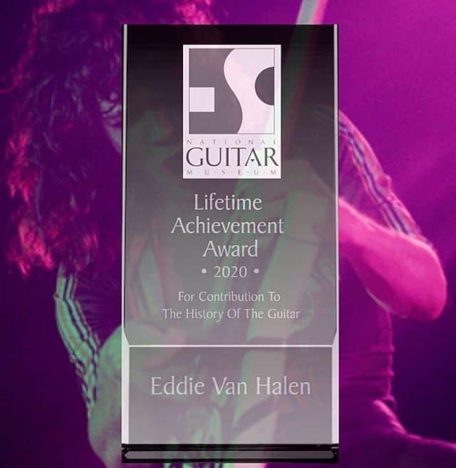 Eddie Van Halen reçoit à titre posthume le Lifetime Achievement Award du Musée national de la guitare