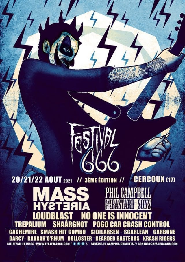 Le festival 666 dévoile son affiche pour 2021 ! (Mass Hysteria, Loudblast, Trepalium et autres)