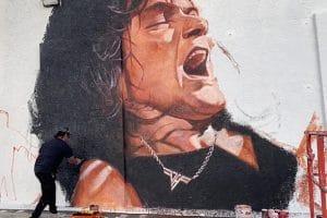 Une fresque d'Eddie Van Halen est en train d'être réalisée à Hollywood