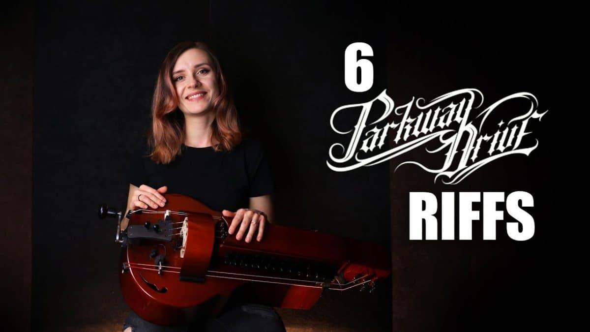 Regardez la joueuse de vielle à roue de Eluveitie interpréter 6 riffs stylés de Parkway Drive