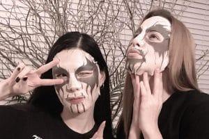 Une société propose des masques de soins pour le visage dans le style Black Metal (Corpse Paint)
