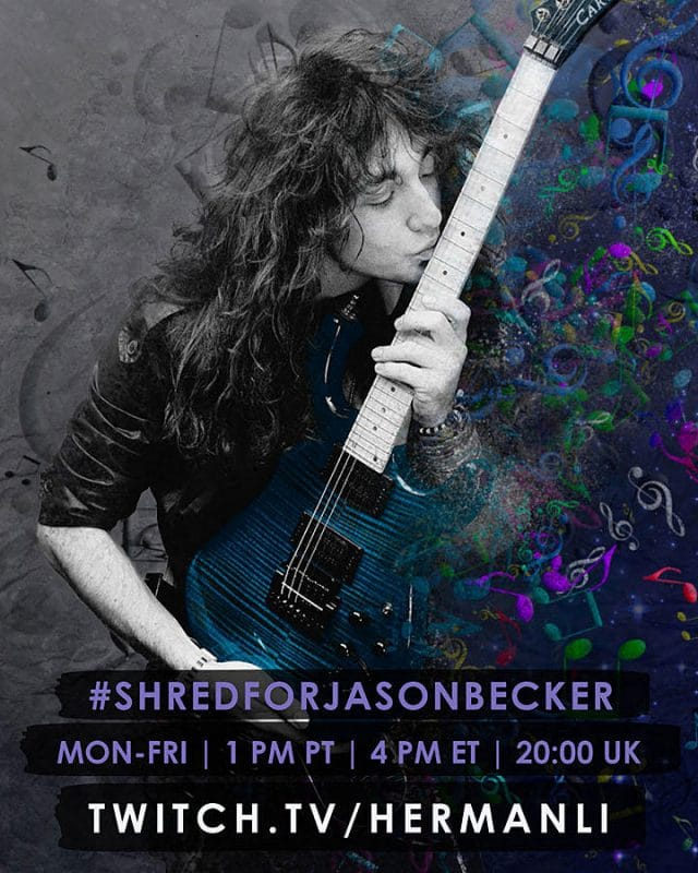 Herman Li de DragonForce et d'autres grands noms de la guitare participent à une collecte de fonds virtuelle pour Jason Becker