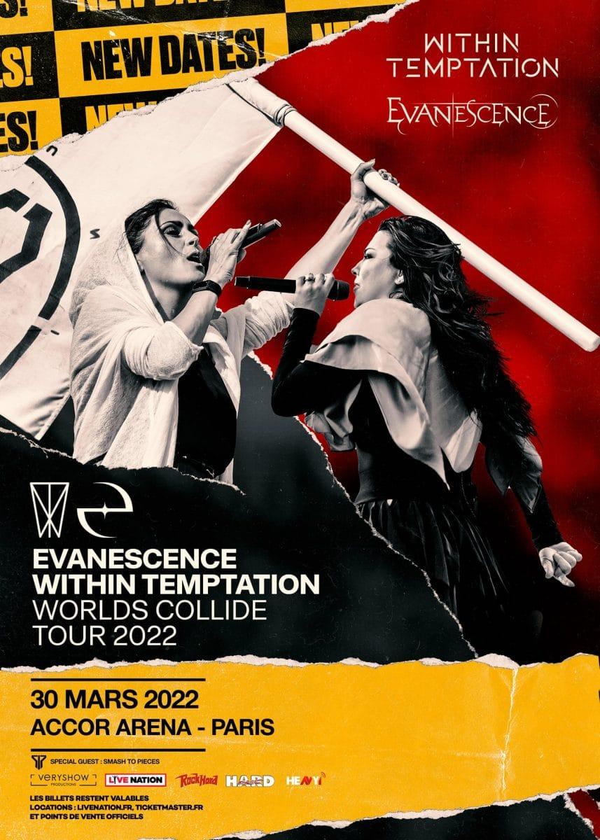 Evanescence et Within Temptation reportent leur tournée européenne à 2022 !