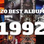 Les 20 meilleurs albums Metal de 1992