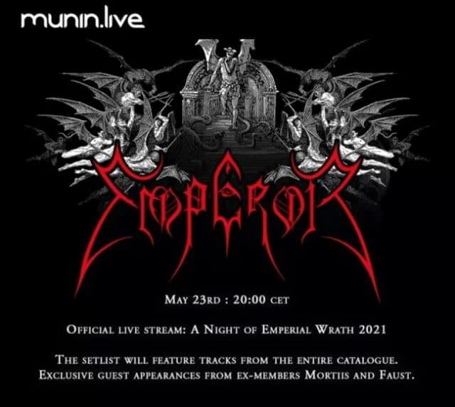Emperor annonce A Night Of Emperial Wrath pour célébrer le 30e anniversaire du groupe de Black Metal !