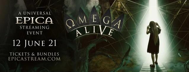 Epica annonce un livestream : Omega Alive