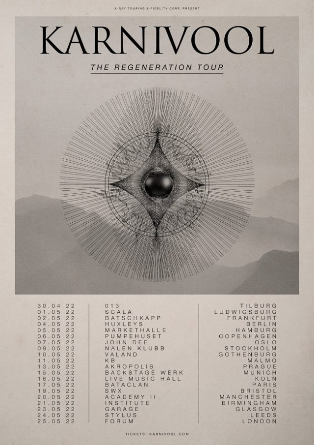 Karnivool reporte sa tournée européenne à 2022 (premiers concerts du groupe depuis 2015)