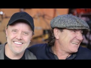Regardez Lars Ulrich faire visiter le quartier général de Metallica à Brian Johnson (AC/DC)