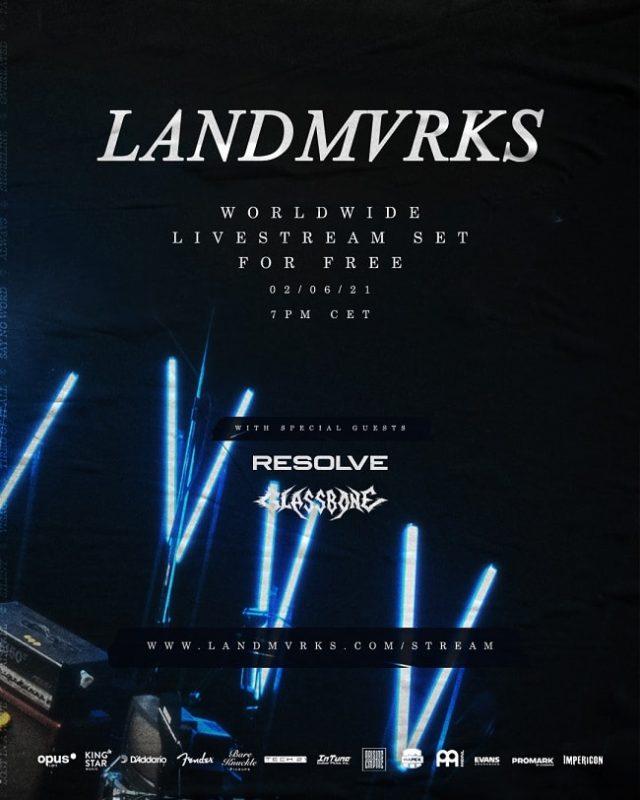 Le groupe de Metal français Landmvrks annonce un concert en streaming gratuit