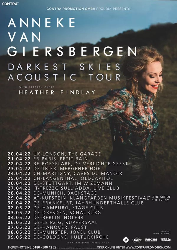 Anneke van Giersbergen annonce une tournée européenne pour 2022
