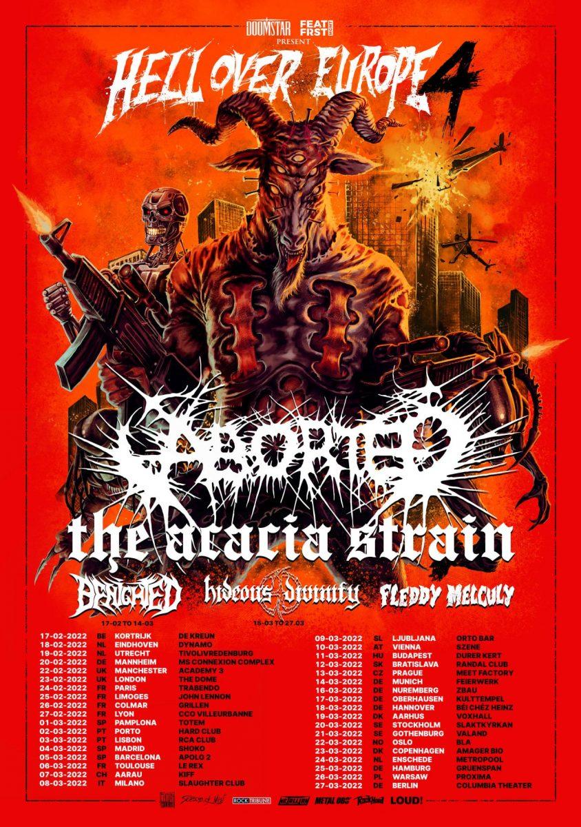 Aborted, The Acacia Strain, Benighted et d'autres reportent leur tournée européenne à 2022