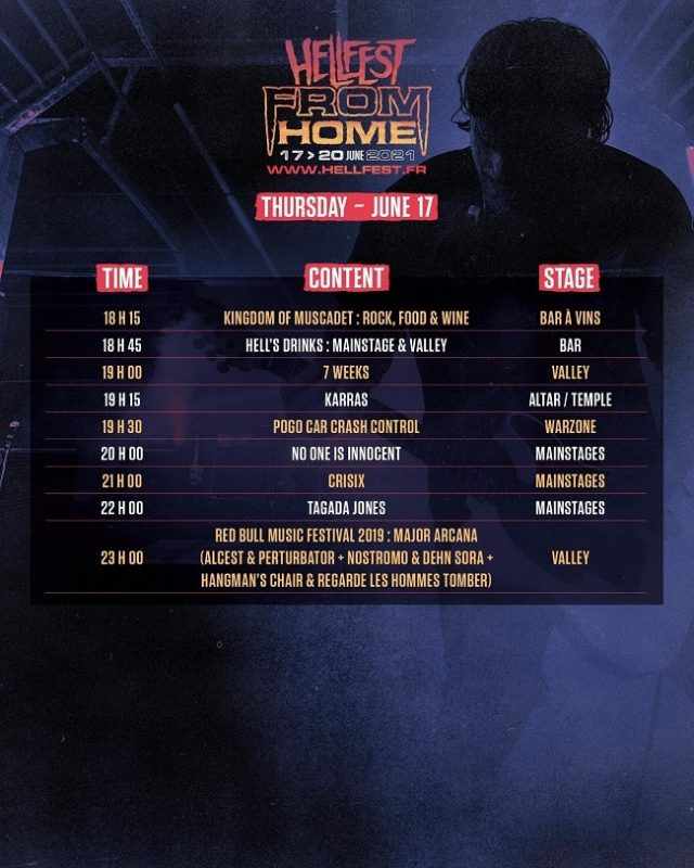 Hellfest From Home 2021, le programme et l'ordre de passage ont été dévoilés